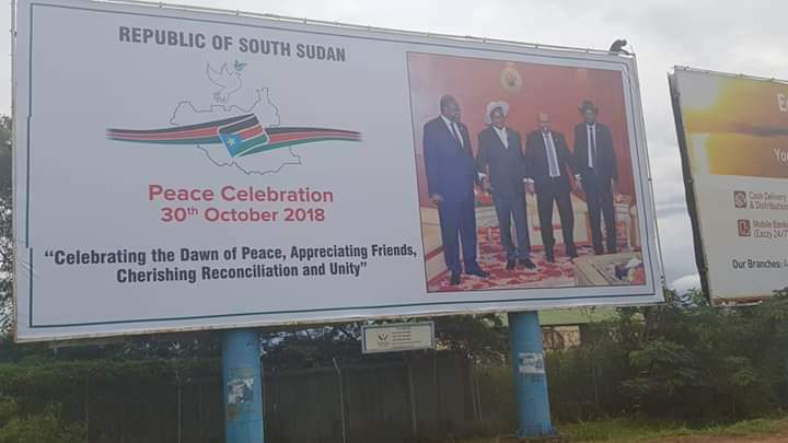 Peace celebrations organized by South Sudan government to take place in Juba on October 30th