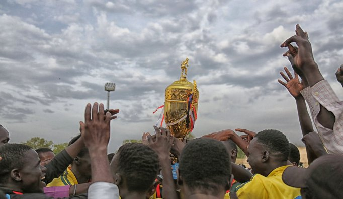 n a tournament full of winners, University of Juba's Team A became a tiny bit more winners by scooping the trophy of the UNMISS-sponsored inter-university peace league football tournament at Juba Stadium(Photo credit: UNMISS)