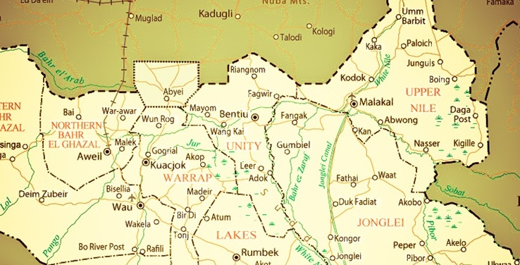 South Sudan states (File/Supplied/Nyamilepedia)