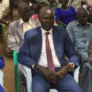 Governor of Gogrial State, Victor Atem Atem....