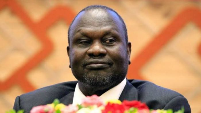 Dr. Riek Machar Teny, First Vice President and the Chairman of the SPLM/A-IO during an IGAD submit in Addis Ababa, Ethiopia (Photo Credit: Nyamilepedia.)