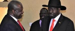 Kiir, Machar meeting in J1 (Photo: /Supplied/Nyamilepedia)