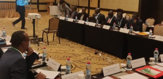 South Sudan's parties, representing the main warring factions, in a negotiation session during a past meeting in Djibouti over the Re-unification of the fractured ruling party, SPLM. (Photo credit: file/Nyamilepedia)