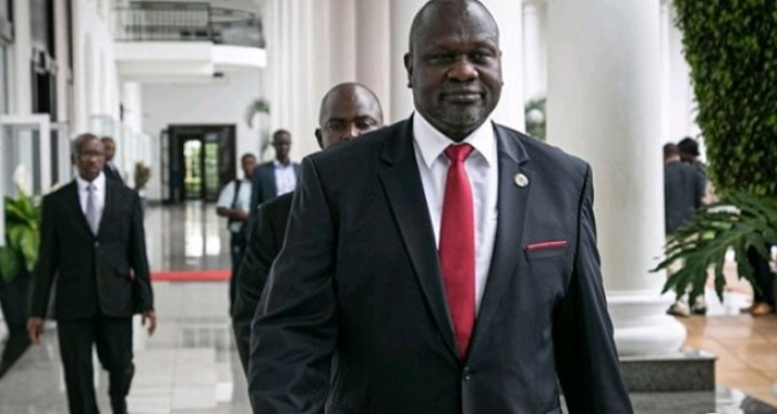 File: SPLM-IO leader and South Sudan's First Vice-President designate Dr. Riek Machar Teny