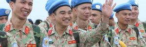 Vietnamese troops serving in the UN mission in South Sudan (Photo credit: courtesy image/Nyamilepedia)