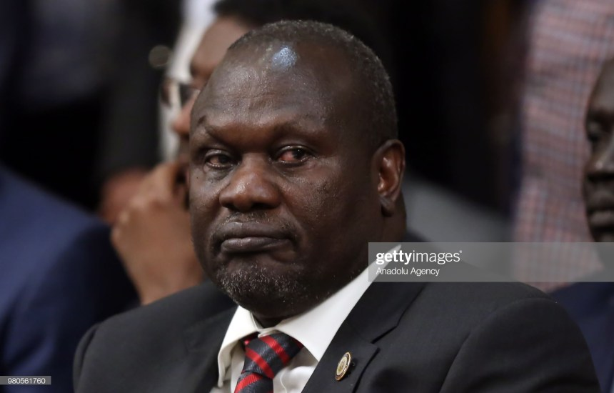 Dr. Riek Machar Teny, First Vice President and the Chairman of the SPLM/A-IO during an IGAD submit in Addis Ababa, Ethiopia (Photo Credit | Minasse Wondimu Hailu | Anadolu Agency | Getty Images.)