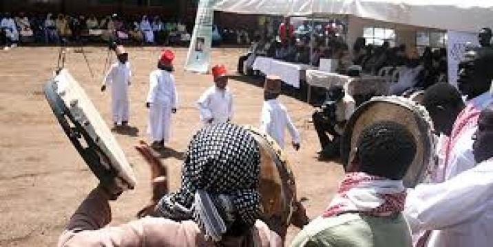 Youth Nubians performing Nubian traditional dance during an event in Kenya(Photo credit: Daily Nations)
