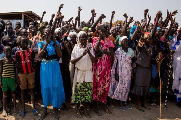 South Sudanese citizens from Unity State welcoming a leader(Photo: file/Nyamilepedia)