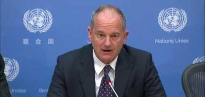 Special Representative of the Secretary General, David Shearer, addressing the United Nations in New York(Photo credit: supplied)