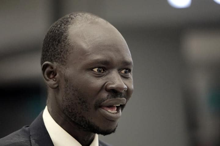 South Sudanese civil  rights activist Peter Biar Ajak who fled to exile in the United States last week (Photo credit: Reuters)