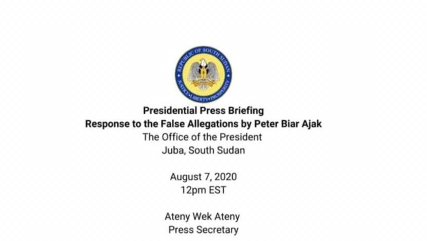 Full press statement by Ateny Wek against Peter Biar Ajak (File: Screenshot of the text)