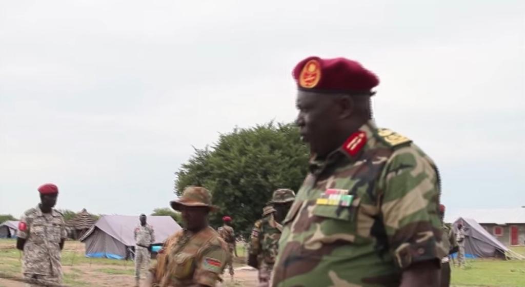 Director of South Sudan military intelligence General Riing Tueny Mabor (Photo credit: Nyamilepedia)