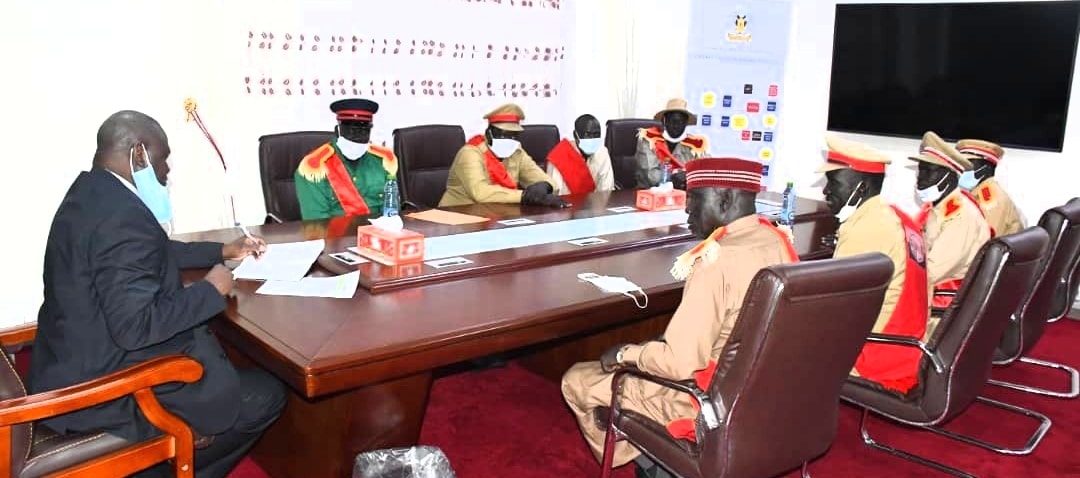 A group of Chiefs led by Chief Away Ajang and Chief Majok Tot, among others, meeting with the First Vice President, Dr. Riek Machar Teny, August 2, 2020(Photo credit: supplied/OFVP)