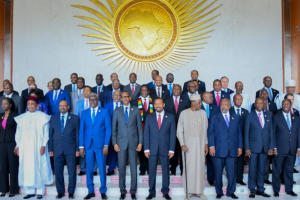 African leaders posting for a picture during African Union Summit before COVID-19(Photo credit: African Union/Nyamilepedia)