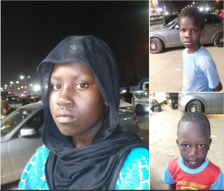 Potrait of three siblings, Nyazola Ruot Gai, 13, Chieng Ruot Gai, 10, and Goar Ruot Gai, 7, who went missing on Sep 10, 2020 in Cairo, Egypt(Photo credit: supplied)