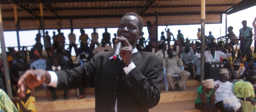 Pastor Malong Bak Malong of Jenina Christians' Tabernacle during his previous service in Aweil ...