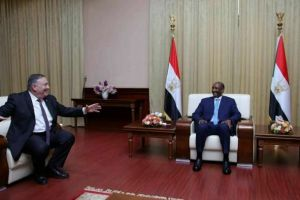 Head of Sudan's sovereignty council Abdel Fattah al-Burhan meeting the U.S. Secretary of State Michael Pompeo in Khartoum, Sudan(Photo credit: courtesy image/Nyamilepedia)