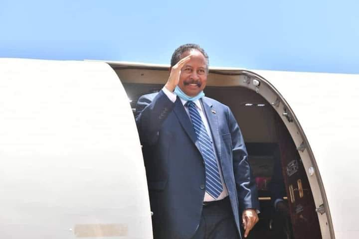 Prime minister Dr. Abdalla Hamdok arriving in South Sudan Juba for the final signing of the peace agreement(Photo credit: supplied)