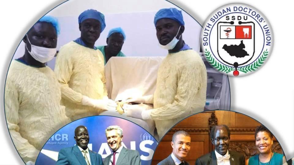 A graphic design of South Sudan doctors union(Photo credit: courtesy image/Nyamilepedia)