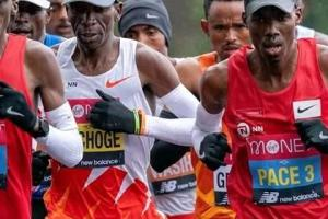 London Marathan 2020 with Eluid Kipchonge in the lead. He finished 8th(Photo credit: supplied)