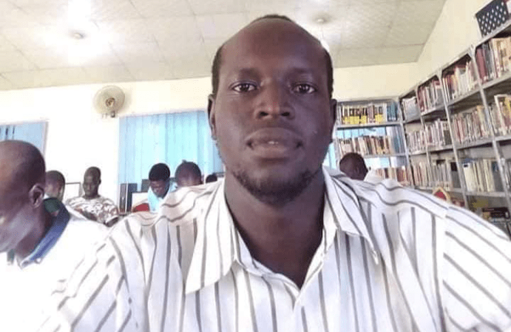 Babu Emmanuel Lokiri, 5th year medical student at university of juba and a family member who is relative to the mother of the deceased children(Source: supplied)