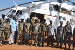 Members of UN Interim Forces for Abyei arriving in Abyei(Photo credit: UNISFA/Nyamilepedia)