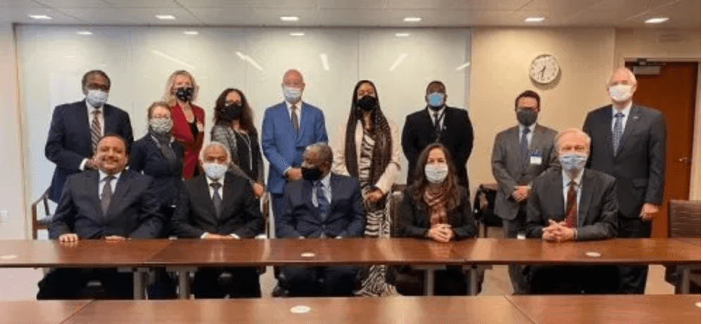 Sudanese leaders and their American counterparts after negotiating how to get Sudan removed from the blacklist(Photo credit: courtesy image)