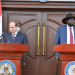 Egyptian President H.E. Abdel Fattah el Sisi giving his speech in the South Sudanese capital, Juba, on November 28, 2020(Photo credit: courtesy image/supplied)
