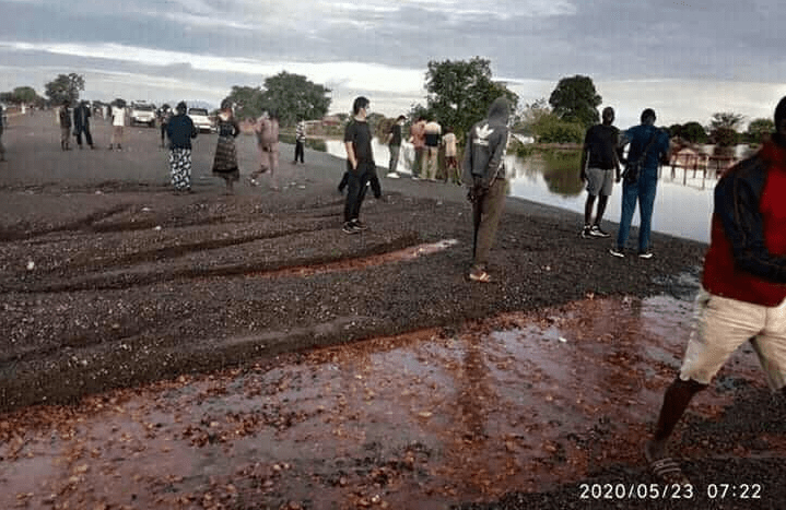 Remnants of the Juba-Rumbek Highway after it was washed away by heavy rains(Photo credit: courtesy image/Supplied)