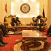 Egyptian President Abdel Fattah Al-Sisis and his delegation meeting president Salva Kiir and his team at South Sudan State House, J1 on Saturday November 28, 2020(Photo credit: courtesy image/Nyamilepedia)