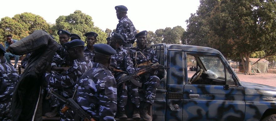Police in Lakes State (Photo credit: M. Mayom/Nyamilepedia)