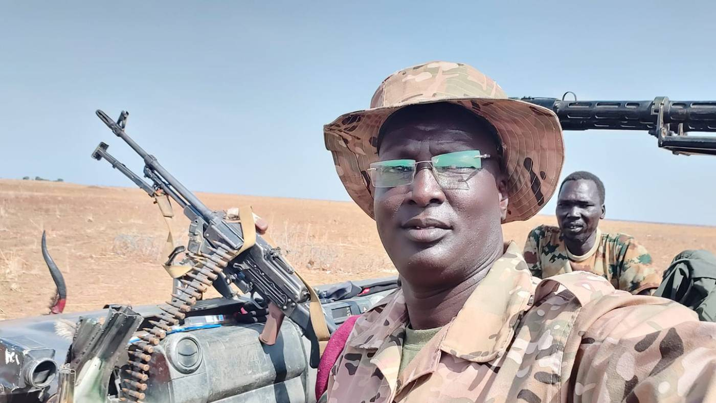 SPLA-IO Spokesman, Brig. Gen. William Gatjiath Deng, in undisclosed location in Upper Nile(Photo credit: supplied)