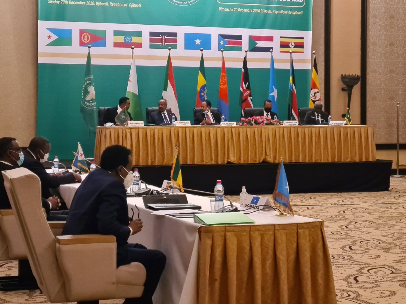 IGAD heads of state and government meeting during the extra-ordinary summit in Djibouti, December 20, 2020(Photo credit: courtesy image)