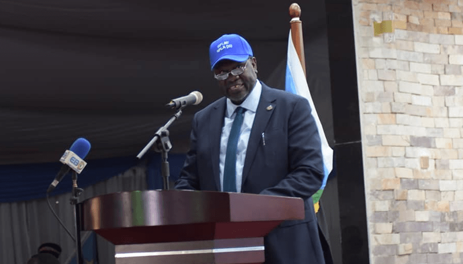First Vice President and leader of the main armed opposition, Dr. Riek Machar Teny, addressing the six conference of the SPLM/A at the Freedom Hall in Juba on December 2, 2020(Photo credit: courtesy image/Nyamilepedia)