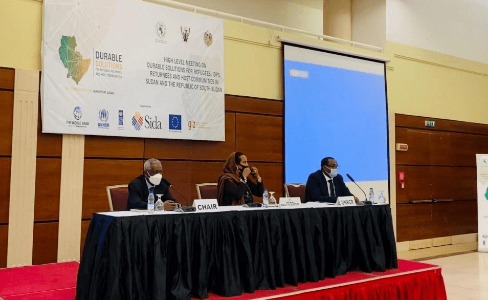 The IGAD Chair, the IGAD secretary and the UNHCR Special Envoy for the horn of Africa at a High-Level meeting in Khartoum, Sudan.(Photo credit: courtesy of UNHCR)