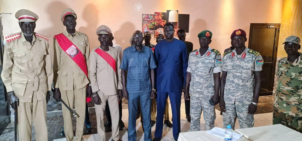 Lou-nuer generals and local chiefs defecting from the SPLM/A-IO announcing their defections on January 31, 2021(Photo credit: file)