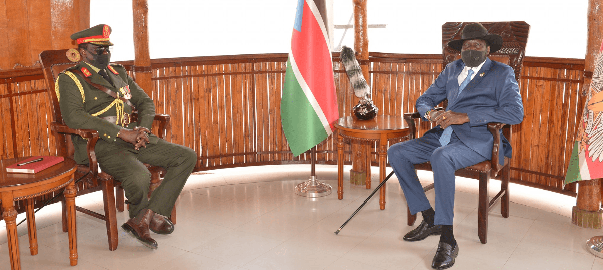 Kiir discusses Warrap security situation with the newly appointed governor Aleu Ayieny Aleu