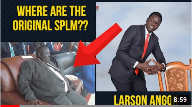 The cover photo of Larson Angok's new song, SPLM(source: youtube)
