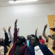 Unity State youth in Nairobi, Kenya with Nyajima Johannes(Photo credit: supplied)