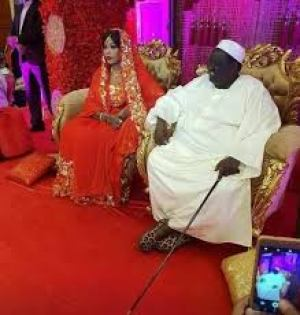 Hon. Tutkew Gatluak Manime doing his Islamic wedding in A-Bashir Palace in Khartoum in November 2018. The wedding was attended by President Bashir but missed by Salva Kiir(Photo credit: courtesy image)