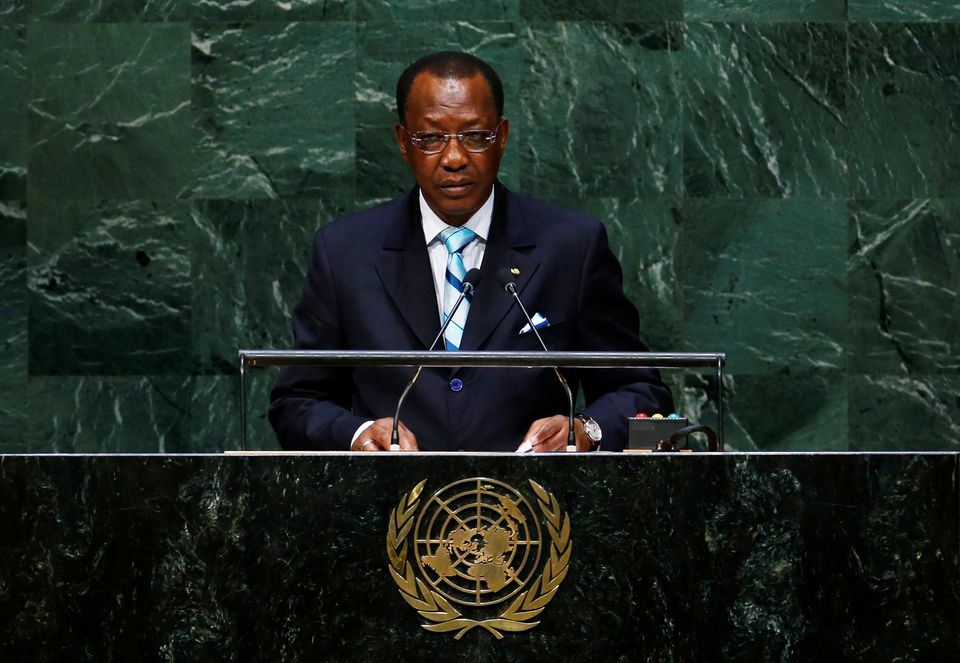 Late Chadian President Marshall Idris Deby presenting at the UN General Assembly(Photo credit: courtesy)