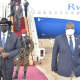 South Sudan's First Vice President Dr. Riek Machar welcoming president Salva Kiir Mayardit back home at the Juba International Airport following a three days visit to Pretoria, South Africa(Photo credit: Courtesy Image/Nyamilepedia)