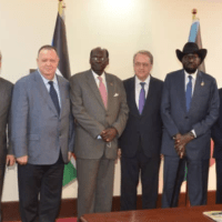 President Kiir meets the Russians