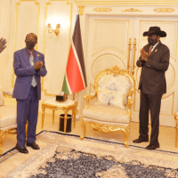 VP Wani Igga hands over Jonglei-Pibor Intercommunal Crisis Report to President Kiir