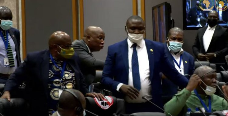 """""""I will kill you outside"""": MPs at each other's throat as Pan African Parliament erupts"""