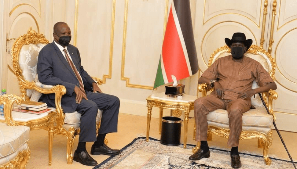 Vice President for Infrastructure visits President Kiir a day after declaring him a winner of a possible future election