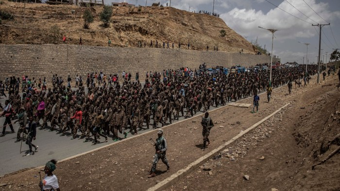 Moment of truth: Defeated Ethiopian soldiers marched to prison in Tigray