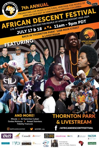 Emmanuel Jal featuring many artists that will perform at the African Festival, July 17-18, 2021...