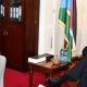 German Ambassador to South Sudan, Amb.Manuel Muller, meeting Dr. Riek Machar Teny on July 26, 2021 to brief him on his exit, peace agreement implementation and bilateral relations of the two countries(Photo credit: courtesy image/Nyamilepedia)