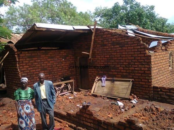 Group Village Headman Senda is also a victim of the hailstorm